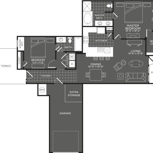 Floor Plan 4 | Luxury Apartments In San Antonio | The Mansions at Briggs Ranch