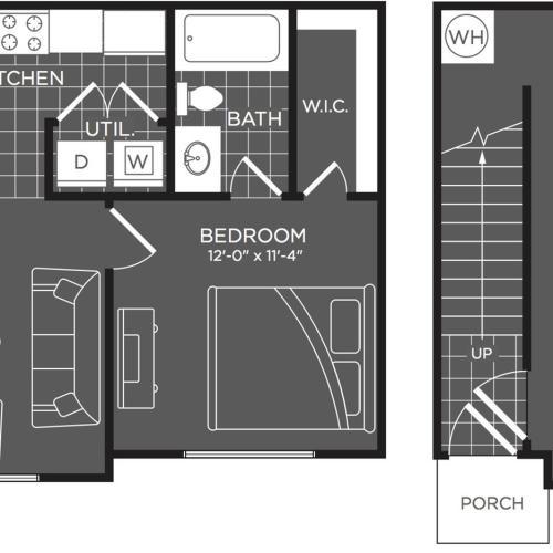 1 Bedroom Floor Plan | Luxury Apartments In San Antonio | The Mansions at Briggs Ranch