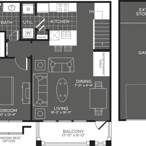 Floor Plan 2 | 3 Bedroom Apartments San Antonio | The Mansions at Briggs Ranch
