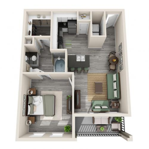 Floor Plan 4 | Luxury Apartments McKinney TX | The Mansions McKinney