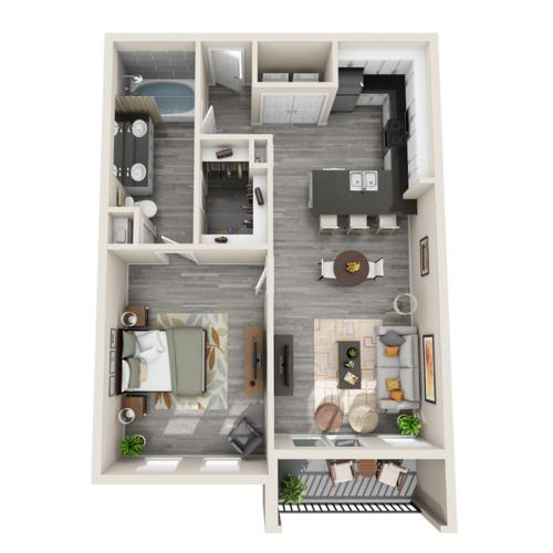 Floor Plan 10 | Apartments McKinney | The Mansions McKinney