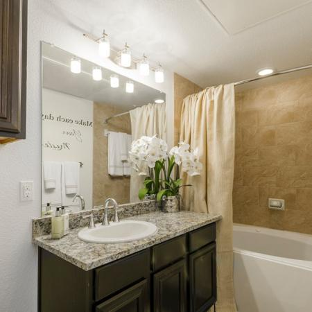 Pristine Master Bathroom | Aubrey Apartments | The Mansions 3Eighty