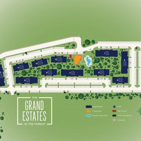 Site Map | Apartments For Rent In Conroe Texas | The Grand Estates in the Forest