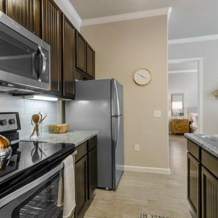 Elegant Kitchen | Apartments In Aubrey TX | Luxe 3Eighty