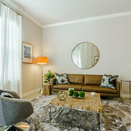 Luxurious Living Room | Aubrey Apartments | Luxe 3Eighty