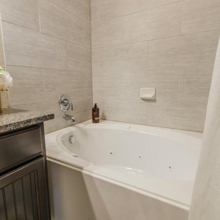 Ornate Bathroom | Apartments In Aubrey TX | Luxe 3Eighty