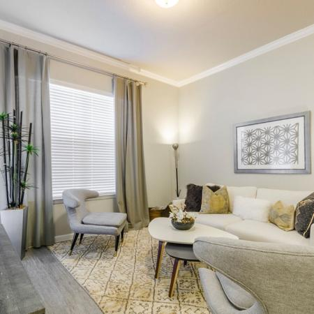 Spacious Living Room 1 | Apartments In Aubrey TX | Luxe 3Eighty