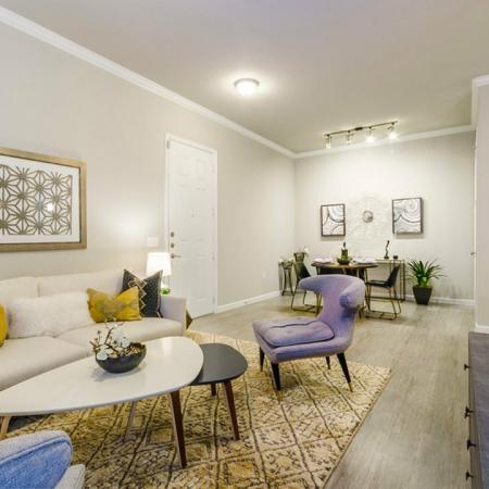 Elegant Living Area | Aubrey TX Apartments | Luxe 3Eighty