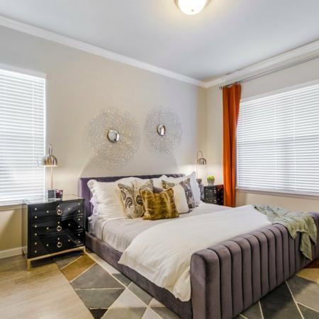 Luxurious Bedroom | Apartments In Aubrey TX | Luxe 3Eighty