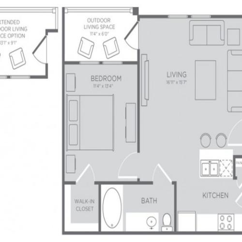 Floor Plan 1 | Apartments Seabrook TX | The Towers of Seabrook