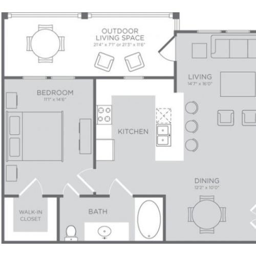 Floor Plan 3 | Apartments Seabrook TX | The Towers of Seabrook