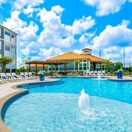 Sparkling Pool | Little Elm Apartments | The Luxe 3Eighty