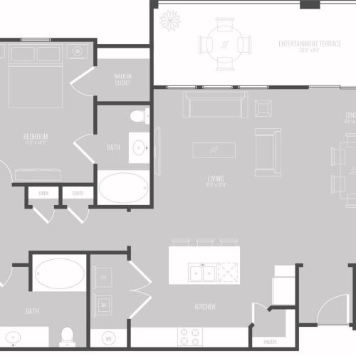 4 Bedroom Floor Plan | Apartments New Braunfels TX | The Luxe at Creekside