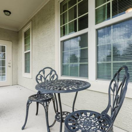 Spacious Porch Area | San Antonio Texas Apartments for Rent | The Estates at Briggs Ranch