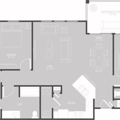 3 Bedroom Floor Plan | New Braunfels Apartments For Rent | The Luxe at Creekside