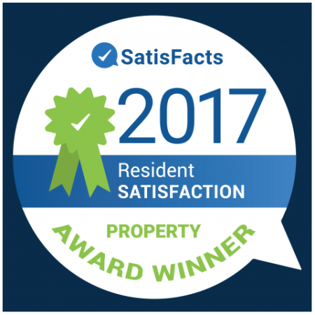 SatisFacts Resident Satisfaction Award | Apartments In Austin | The Mansions at Travesia