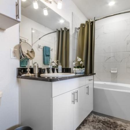 Luxurious Bathroom | 3 Bedroom Apartments In Garland TX | The Mansions at Spring Creek