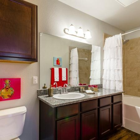 Ornate Bathroom | Little Elm TX Apartments | The Estates 3Eighty