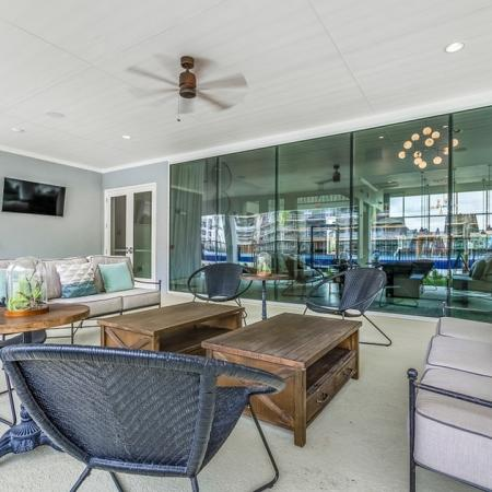 Community Outdoor Patio | New Braunfels Apartments | The Luxe at Creekside