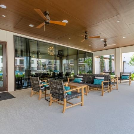 Community Patio | Apartments In Garland Texas | The Towers at Spring Creek