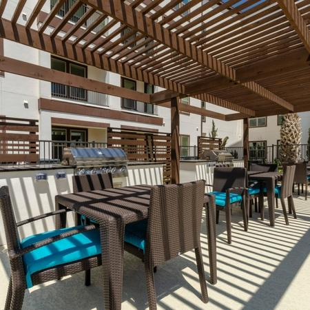 Community BBQ Grills | Apartments In Garland Texas | The Towers at Spring Creek