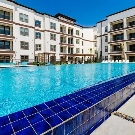 Resort Style Pool   Apartments In Garland TX   The Towers at Spring Creek