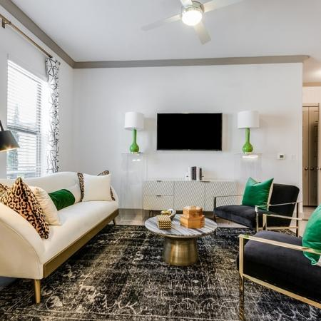 Spacious Living Room   Apartments In Garland TX   The Towers at Spring Creek