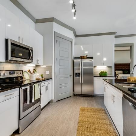 Modern Kitchen   Apartments In Garland Texas   The Towers at Spring Creek