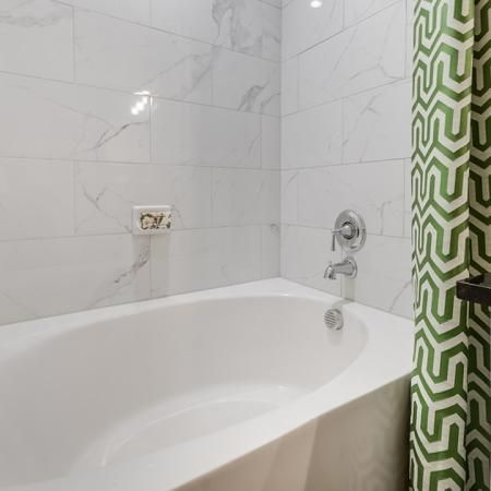 Luxurious Bathroom   3 Bedroom Apartments In Garland TX   The Towers at Spring Creek