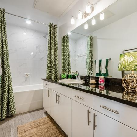 Elegant Bathroom   Apartments In Garland TX   The Towers at Spring Creek