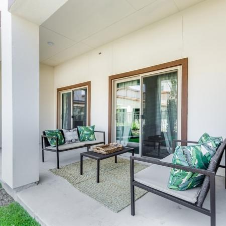 Spacious Back Patio   3 Bedroom Apartments In Garland TX   The Towers at Spring Creek
