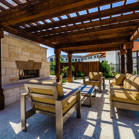 Outdoor Fire Place | 3 Bedroom Apartments In Garland TX | The Mansions at Spring Creek