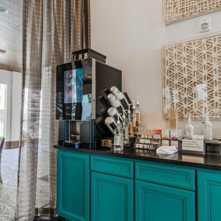 Resident Coffee Bar | Apartments In Garland TX | The Towers at Spring Creek