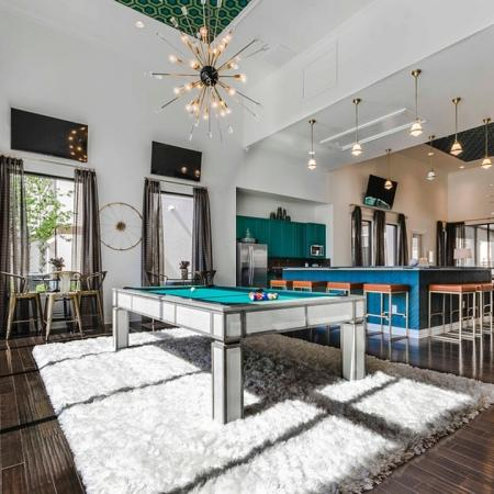 Resident Billiards Table   Apartments In Garland Texas   The Towers at Spring Creek