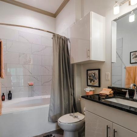 Ornate Bathroom | Apartments For Rent In Richardson Texas | The Mansions at Spring Creek