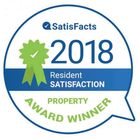 SatisFacts Resident Satisfaction Award | Apartments For Rent In San Antonio | The Estates at Briggs Ranch