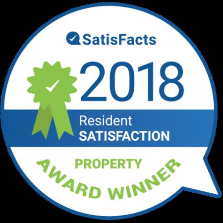2018 Resident Satisfaction Property Award Winner