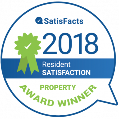 2018 Resident Satisfaction Property Award Winner