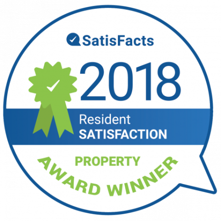 SatisFacts Resident Satisfaction Award | Luxury Apartments In Wylie TX | The Mansions at Wylie01