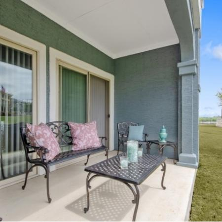Spacious Apartment Balcony | San Antonio Apartments | The Estates at Briggs Ranch