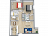 2 Bed 2 Bath 930 Sq. Ft.