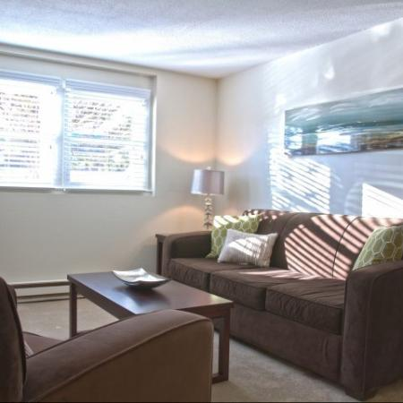 Warm Living Area with natural light | Princeton Dover | Dover NH Apartment Buildings