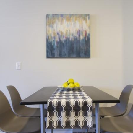 Sophisticated Dining Space | Princeton Dover | Dover NH Apartment Buildings