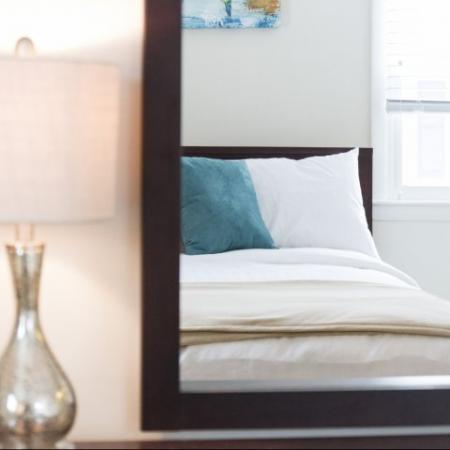 Beautiful bedroom decor | Princeton Dover | Dover NH Apartment Buildings