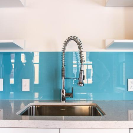 Vibrant backsplash