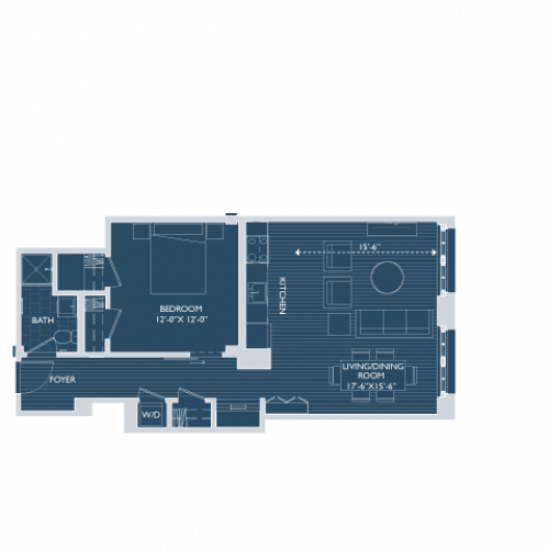 Floor Plan 4 | Boston South End Apartments | 381 Congress
