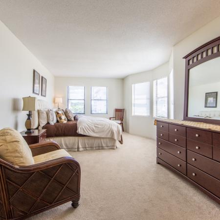Gorgeous bedroom layout and design at our Nashua New Hampshire apartments