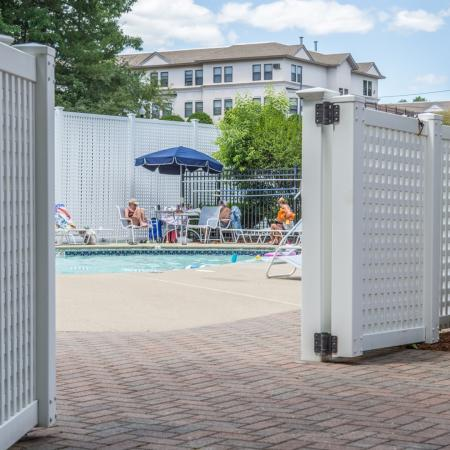 Sparkling pool at our Nashua NH apartments