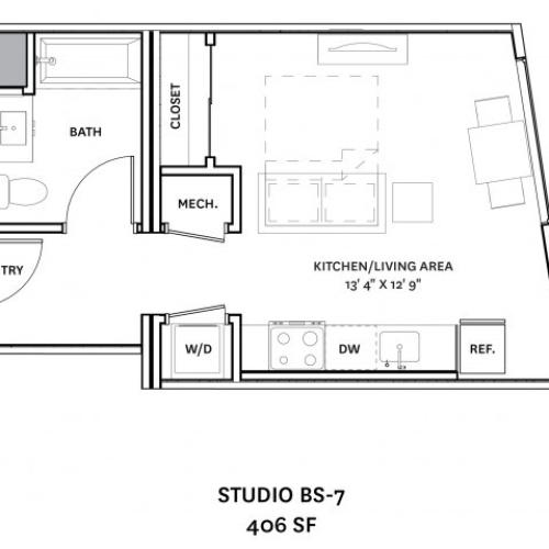 Floor Plan 3 | Charlestown Boston Apartments | The Graphic Lofts
