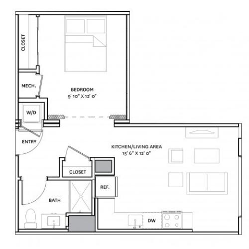 Floor Plan 7 | Charlestown Apartments Boston | The Graphic Lofts